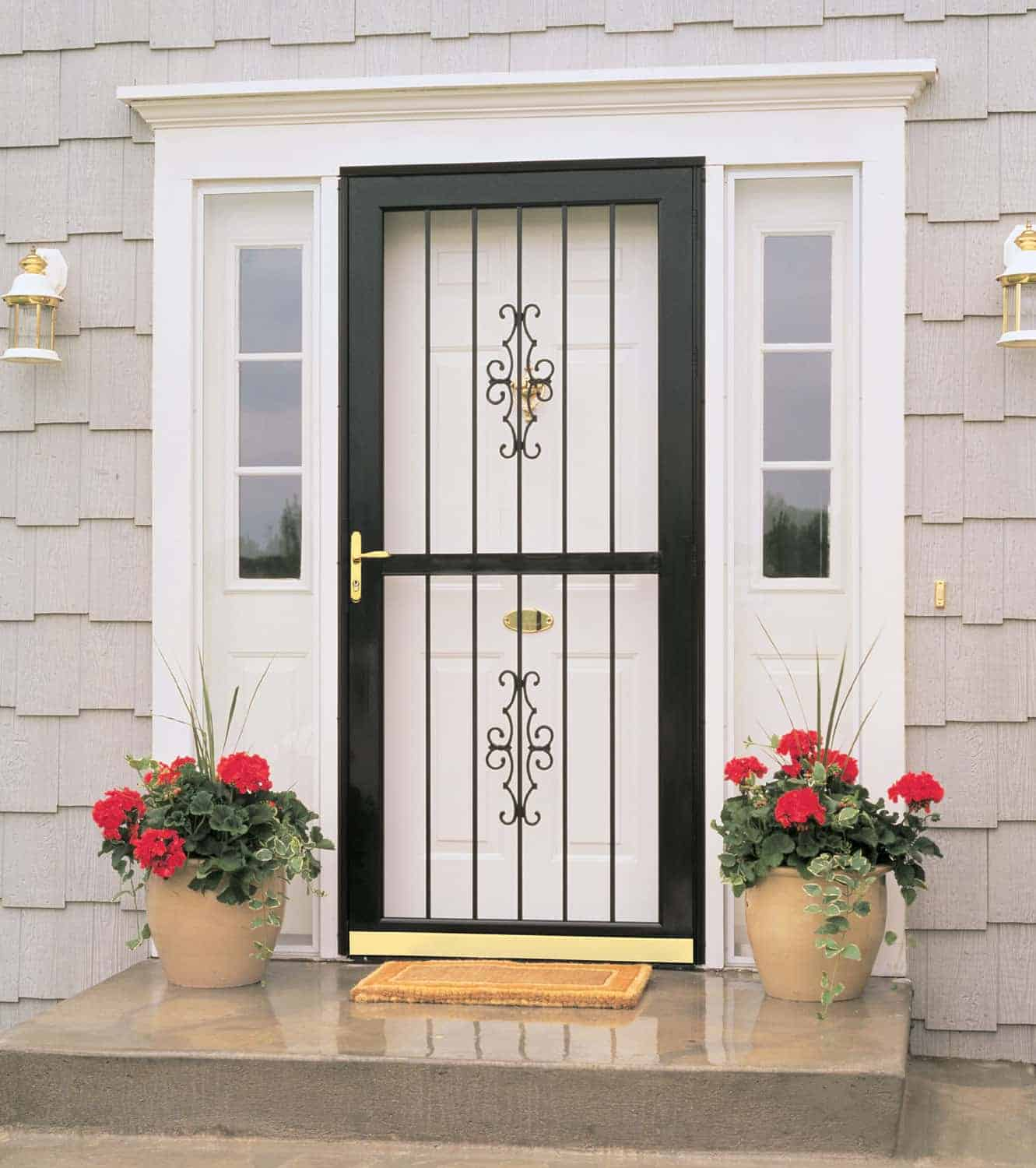 Security storm doors sahara windows doors for Front door with storm door